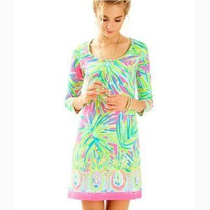 Lilly Pulitzer Beacon Tiki Pink Lime Dress NWT L